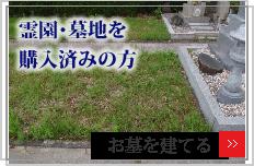 霊園・墓地を購入済の方