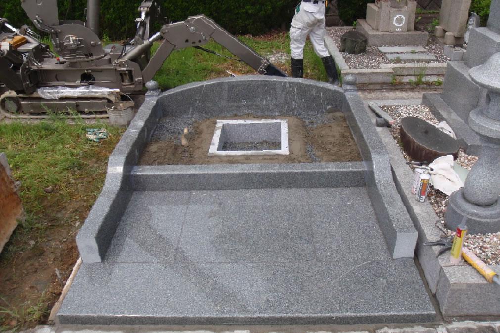 墓石据付写真1