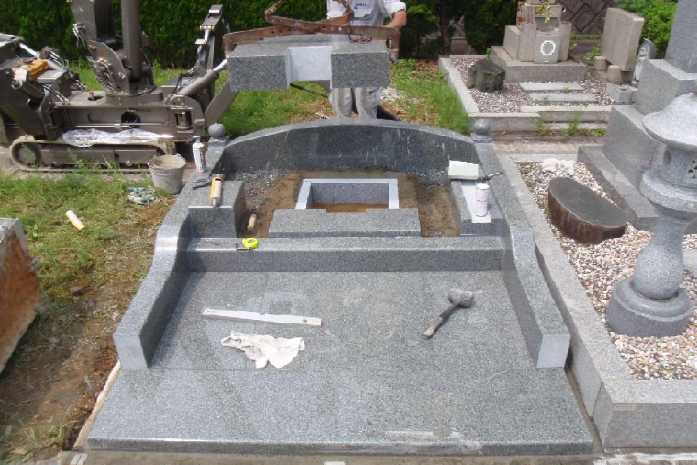 墓石据付写真2