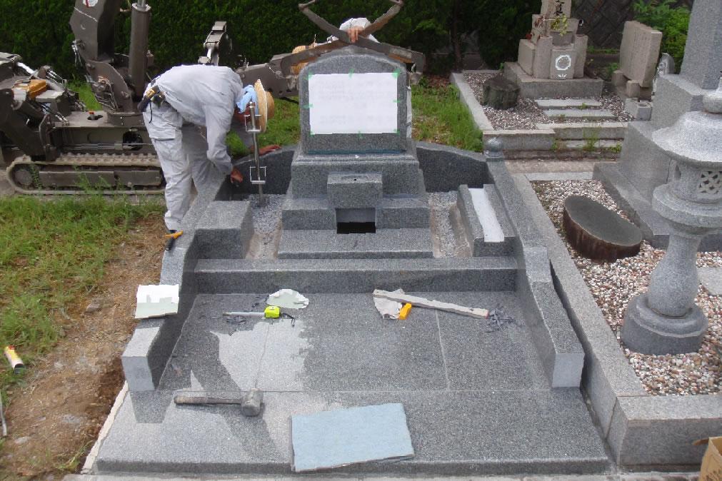 墓石据付写真3