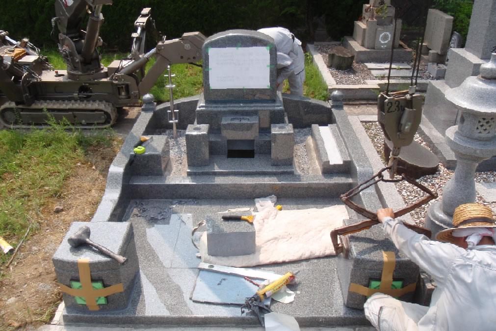 墓石据付写真4