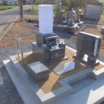 加西市中西町で中野石材オリジナル 「現代墓石」の建立
