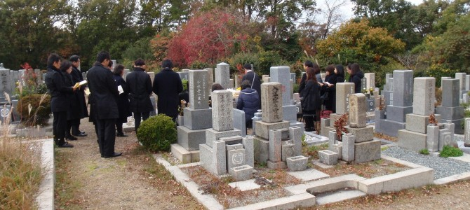 神戸市垂水区の舞子墓園で、追加文字彫りと納骨代行