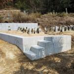 墓地ヨウ壁補強工事