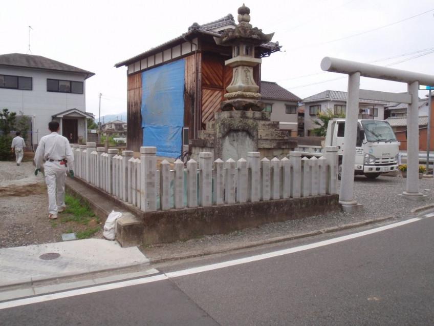 神社玉垣の移設工事