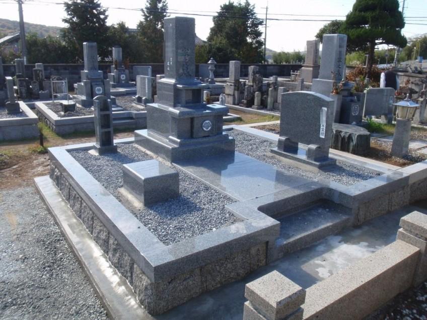 神戸市西区押部谷の高が原墓地にて「現代墓石」のお墓を建立しました