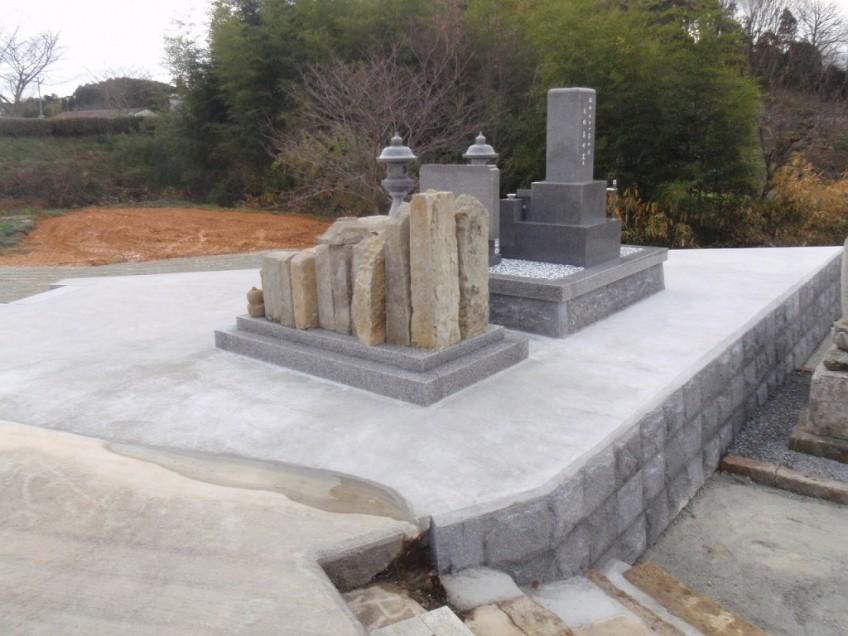 加西市でお墓のリフォーム・墓地造成工事をしました