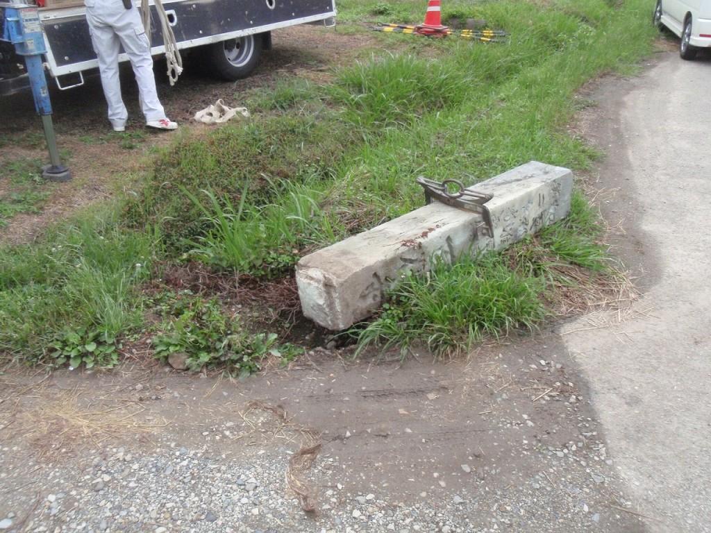 石柱の修繕工事
