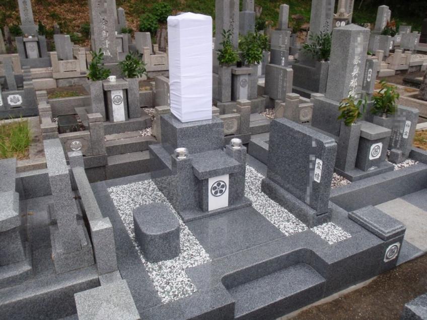 神戸市須磨区白川町墓地で神道墓の建立