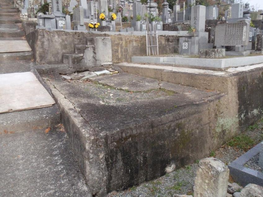 兵庫県多可郡多可町でお墓の移設工事
